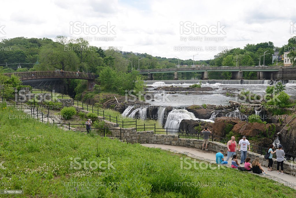 Paterson Great Falls National Historic Park in New Jersey stock photo