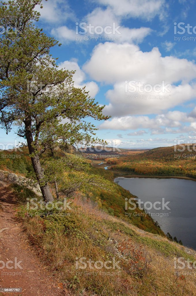 Path above the lake. royalty-free stock photo