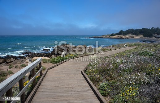 A path along a pretty stretch of the California coast  in the small town of Cambria. A really picturesque spot and a nice place to stop on a drive down the coast on Highway 1.