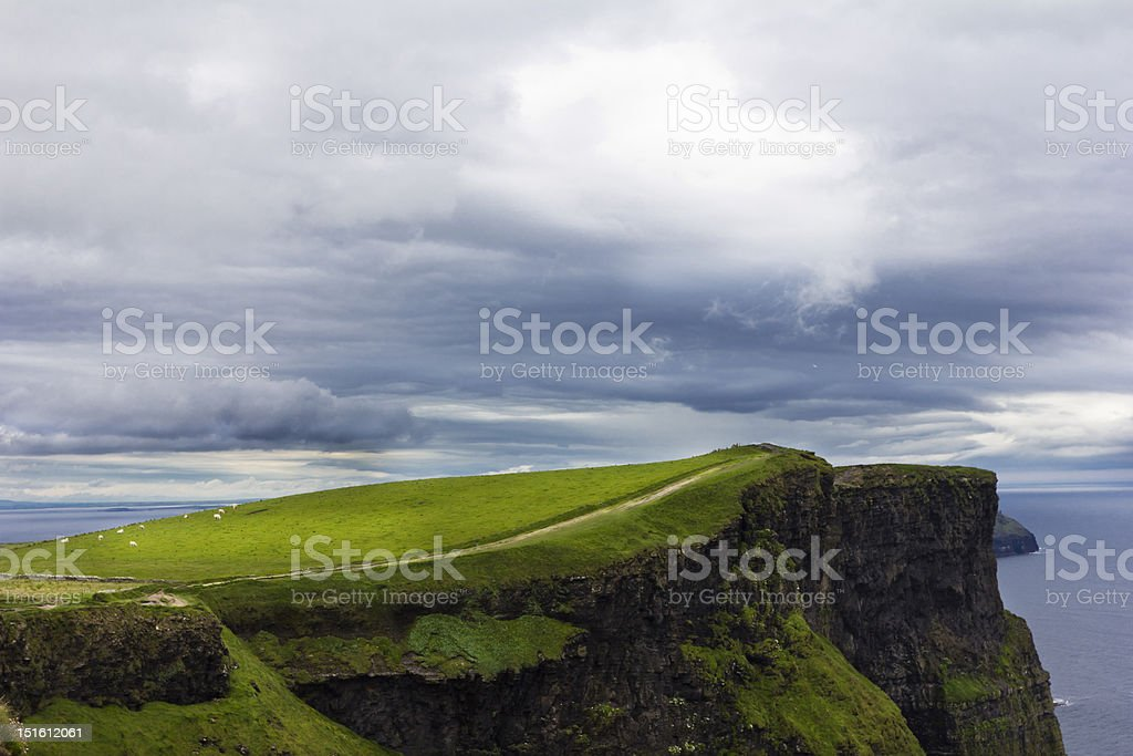 Path Along the Cliffs of Moher royalty-free stock photo