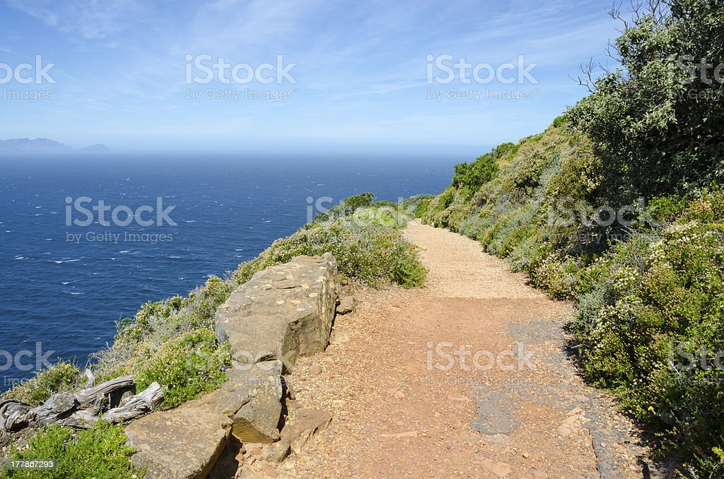 Path along the Indian Ocean at Cape Point royalty-free stock photo
