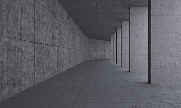 Weg und Säulen aus Beton – Foto