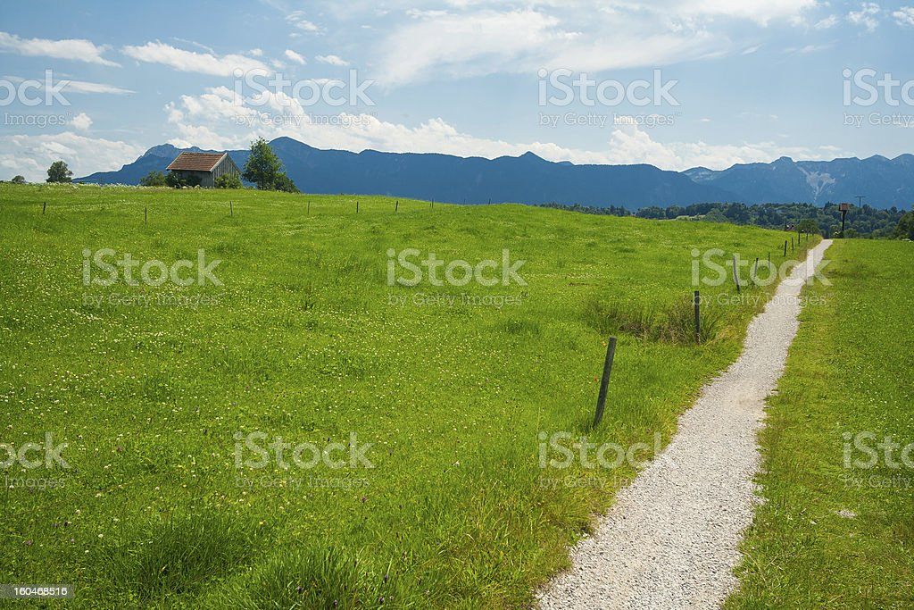 Path around the lake Staffelsee royalty-free stock photo