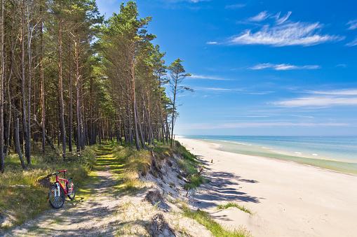 Path at the seashore, Baltic sea