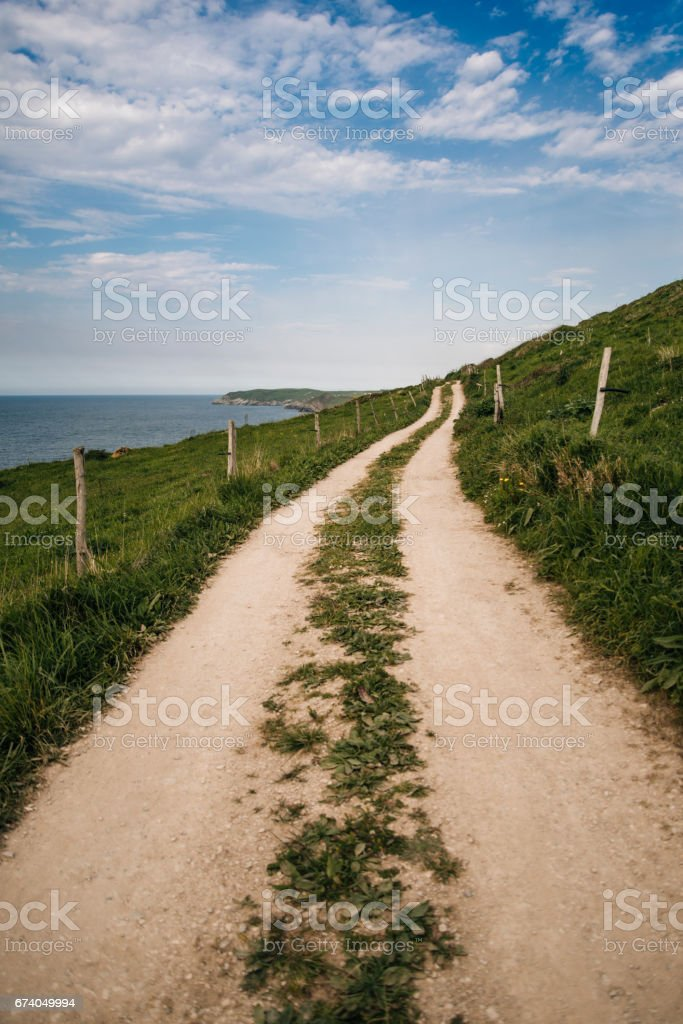 Path by the sea royalty-free stock photo