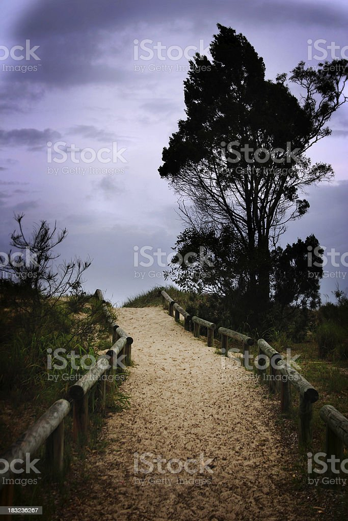 Path in a Storm royalty-free stock photo