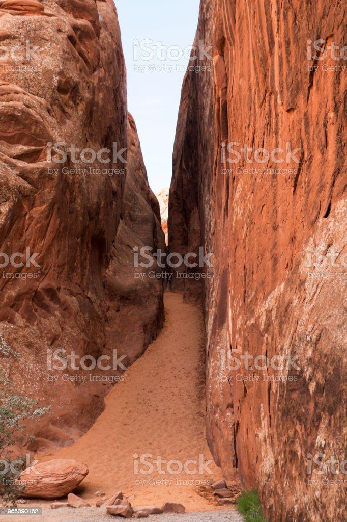 Path in Arches National Park, Utah, USA zbiór zdjęć royalty-free