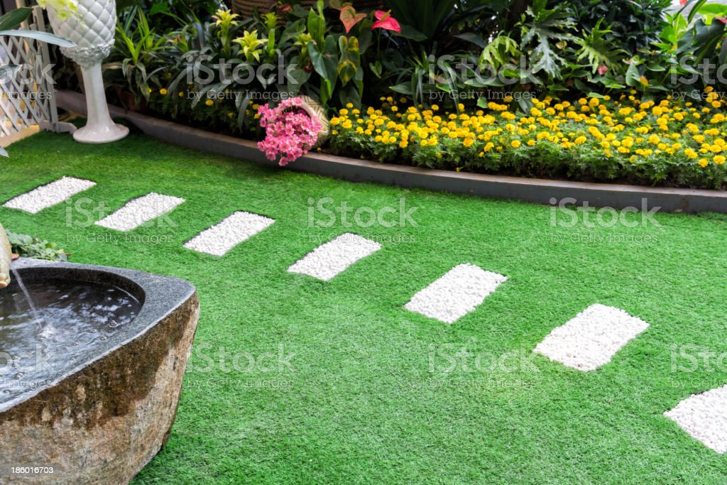 Path in garden. stock photo
