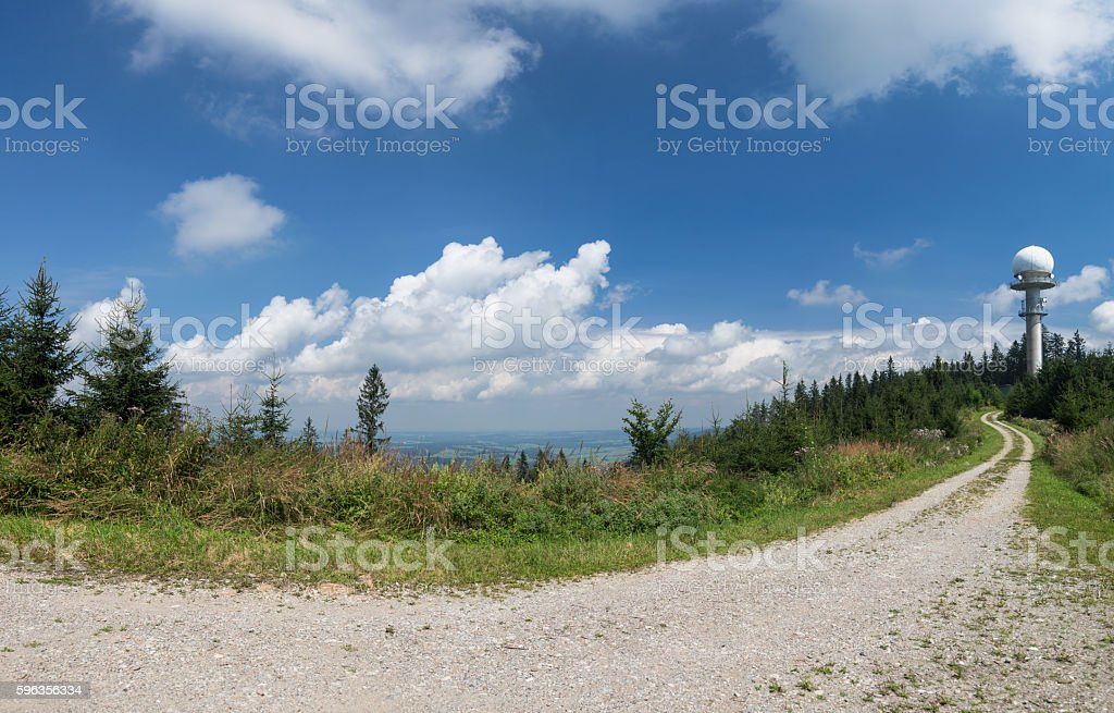 Path in the alps royalty-free stock photo