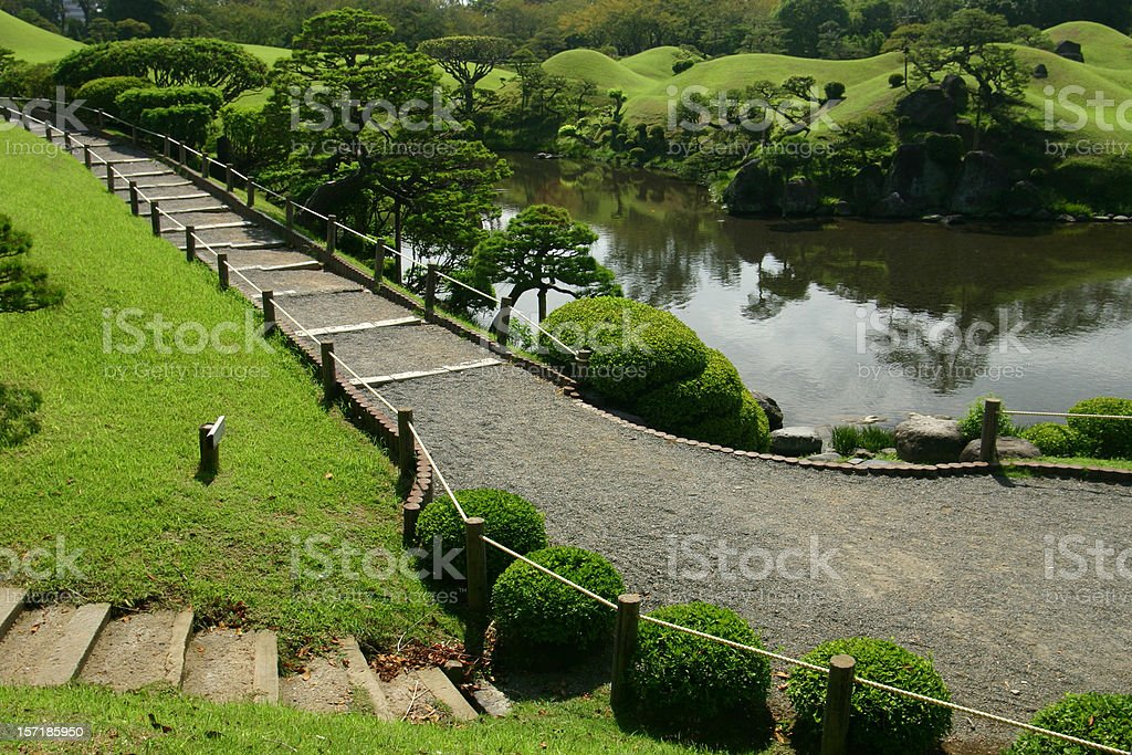Path in the japanese garden royalty-free stock photo