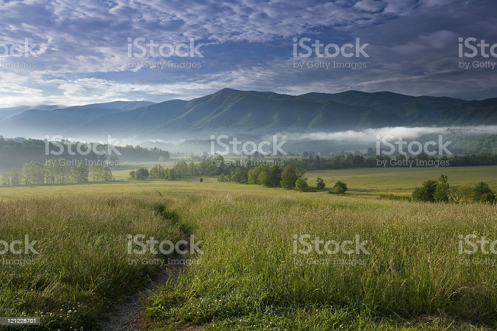 Path into Cades Cove stock photo