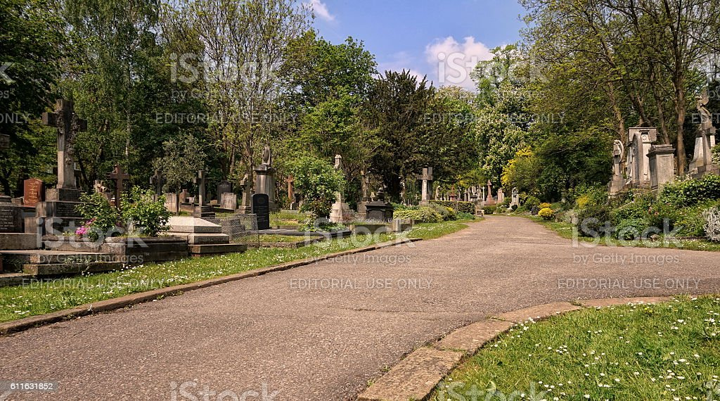 Path leading through the East Cemetery stock photo