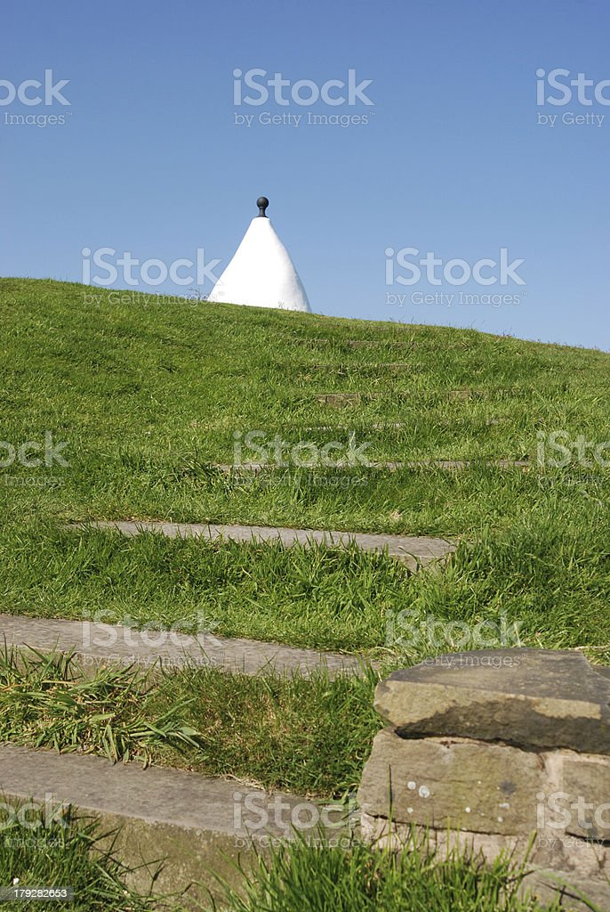 Path leading to White Nancy folly in Cheshire stock photo