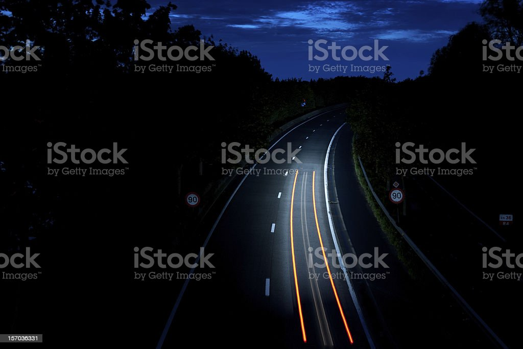 Path light on the road royalty-free stock photo