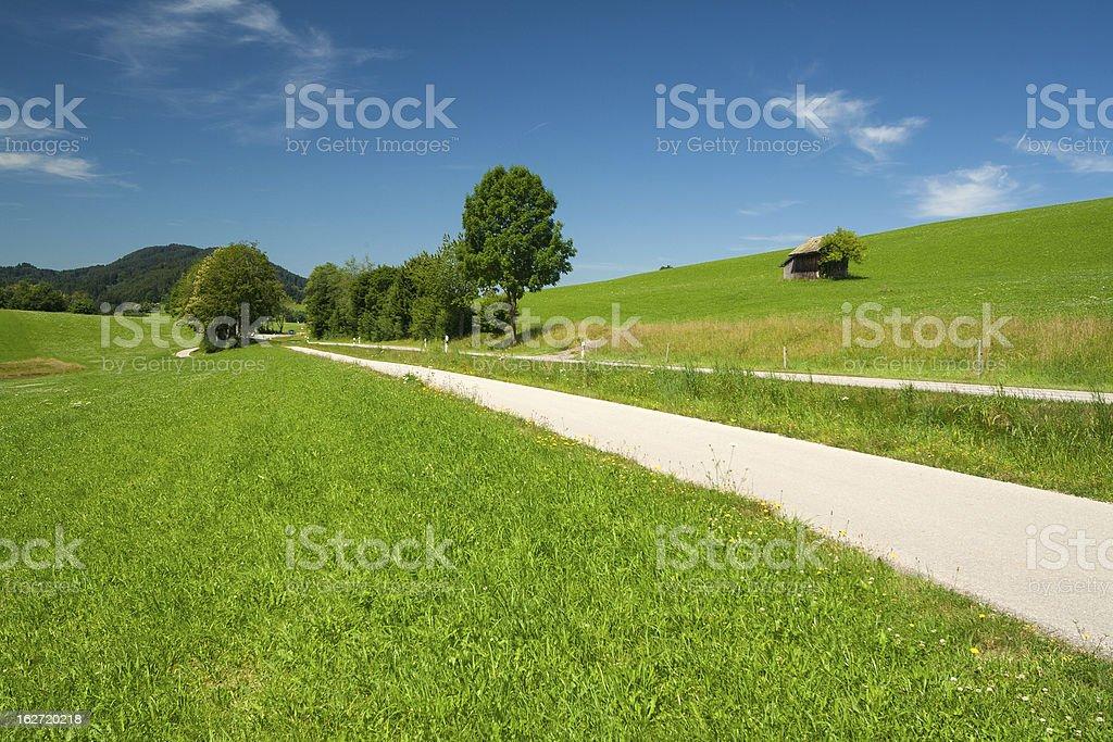 Path near the lake Illasbergsee stock photo