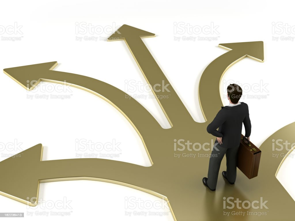 Path of businessman stock photo