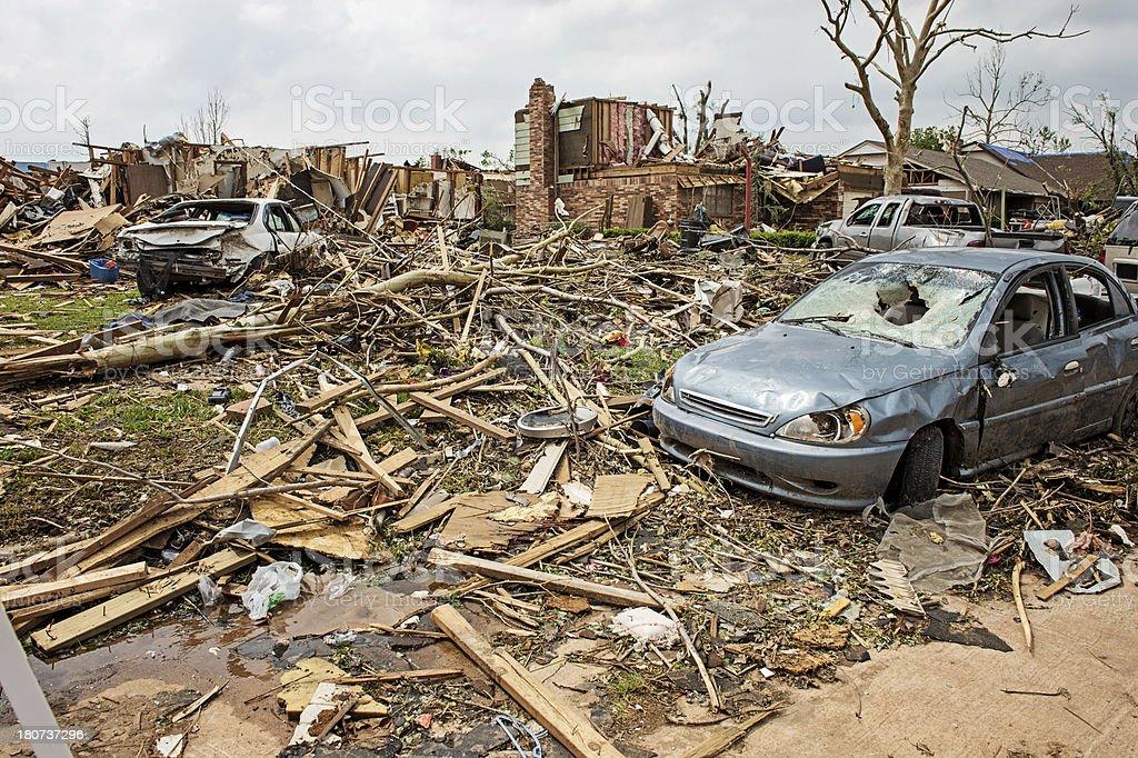 Path of Tornado royalty-free stock photo