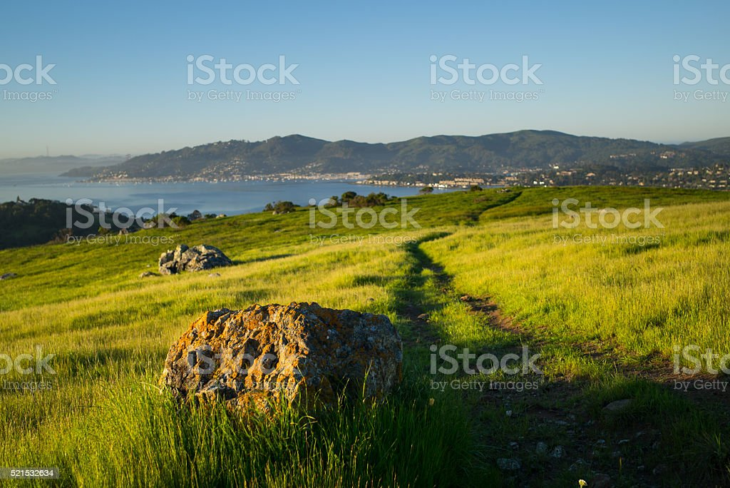 Path on Ring Mountain stock photo