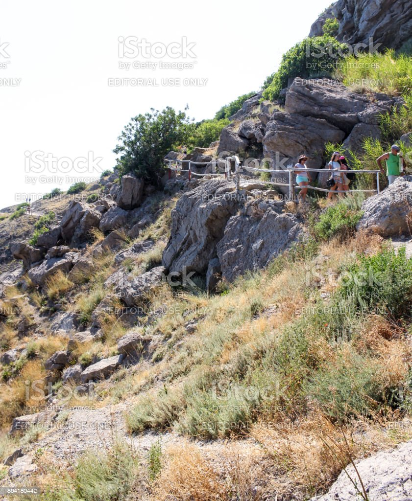 Path on the rocks. royalty-free stock photo