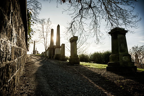 Path through Glasgow Necropolis