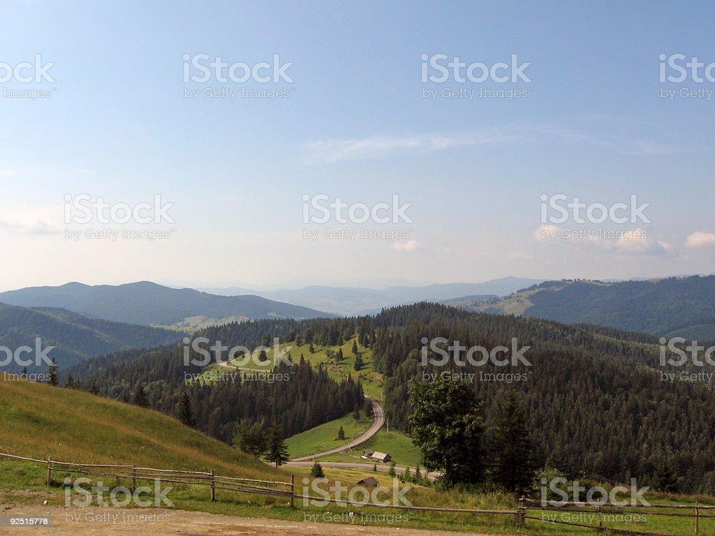 Path through mountains royalty-free stock photo
