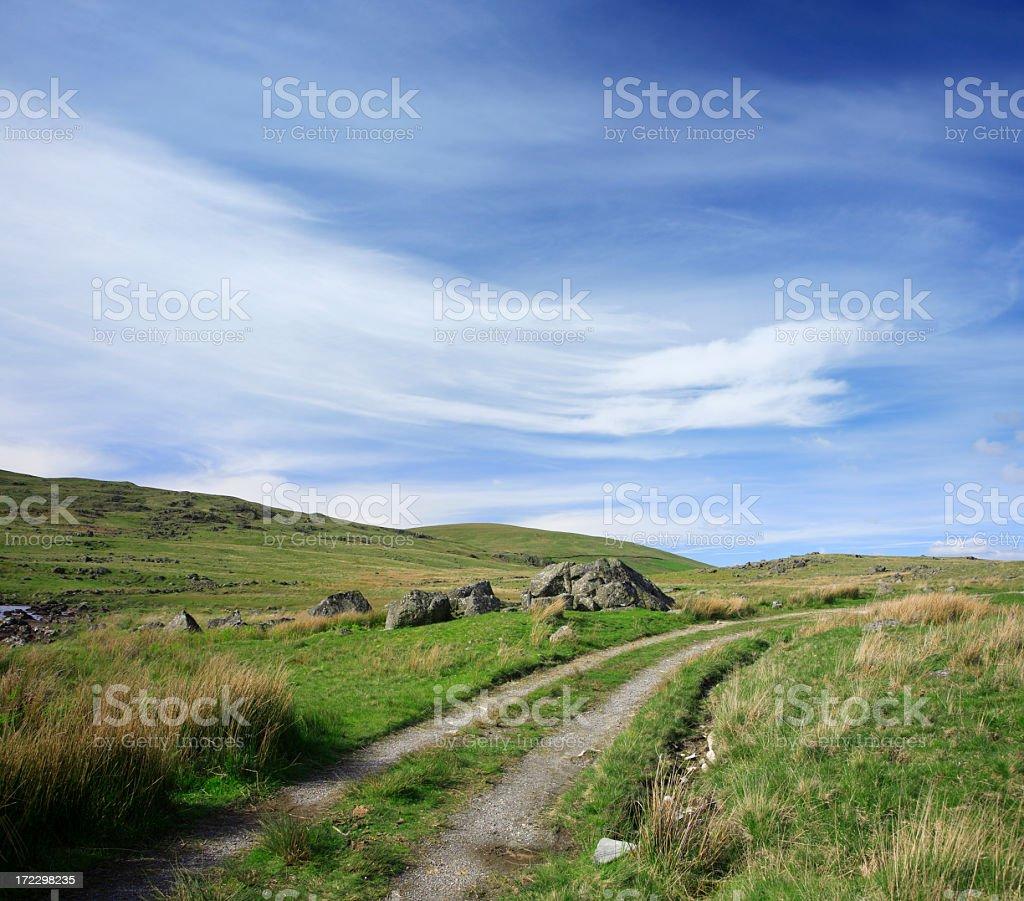 Path through Rock Strewn Highlands stock photo