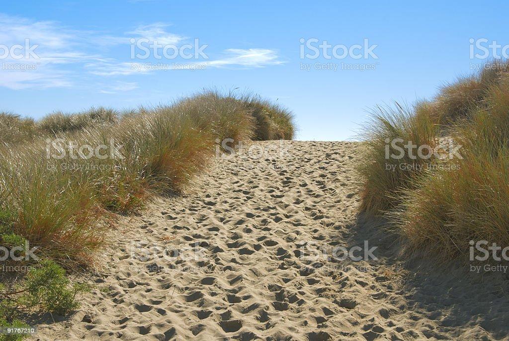 Path through Sand Dunes stock photo