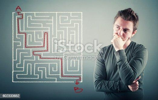 istock Path through the maze. 602333652