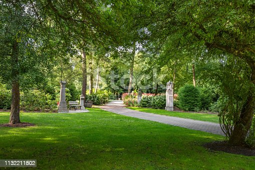 Area for soldier graves at the cemetery Hamburg-Ohlsdorf
