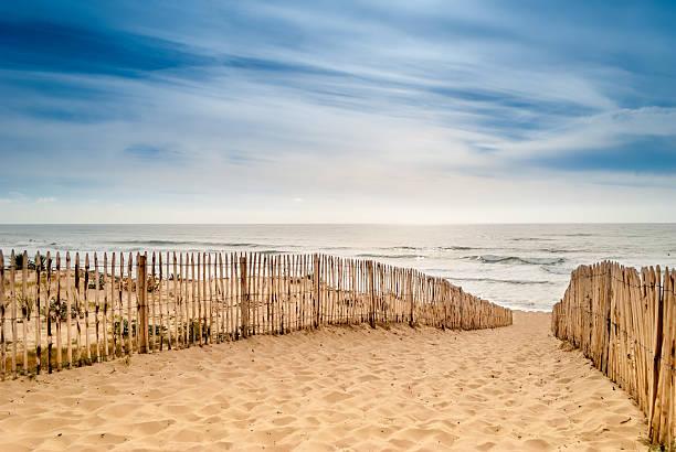 Path to beautiful beach, Lacanau, France – Foto