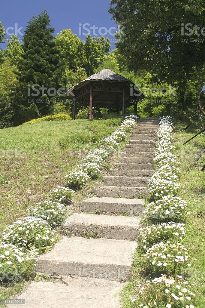 path to gazebo royalty-free stock photo