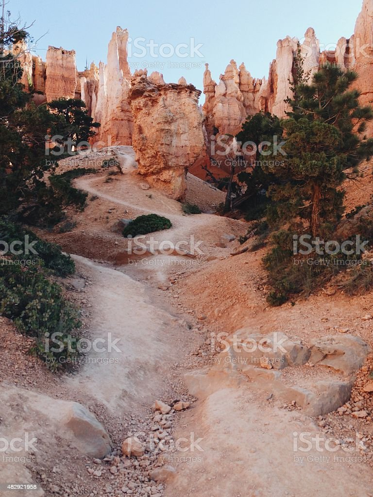Path to Hoodoos stock photo