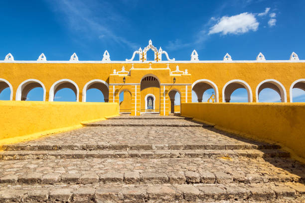 Path to Izamal Monastery stock photo