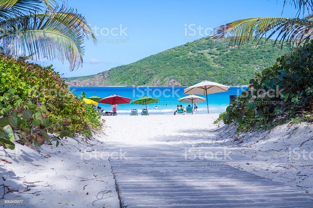 Path to paradise royalty-free stock photo