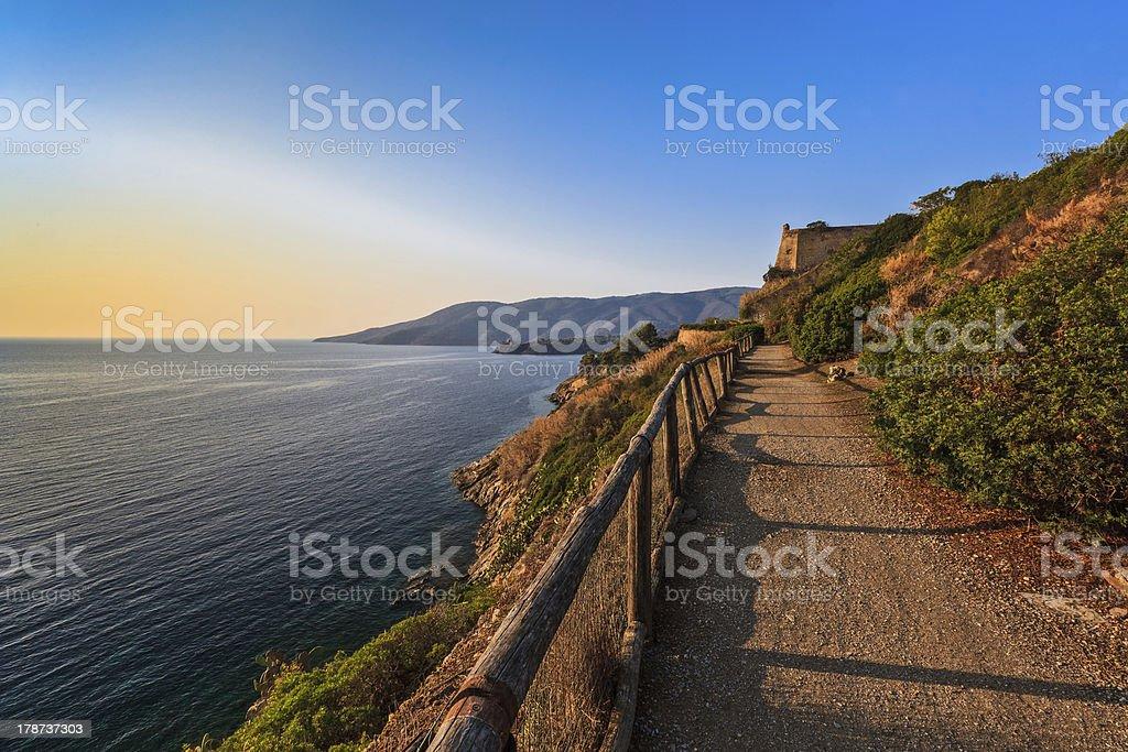 path to Porto Azzuro royalty-free stock photo