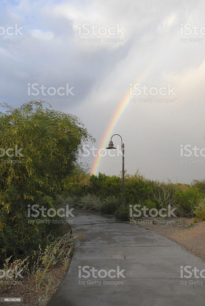 Percorso di arcobaleno foto stock royalty-free