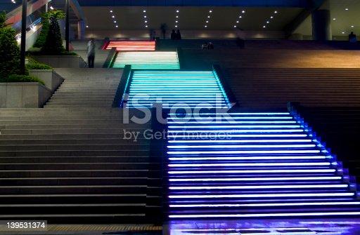 Stair leading to Yongsan, Train Station Seoul, South Korea