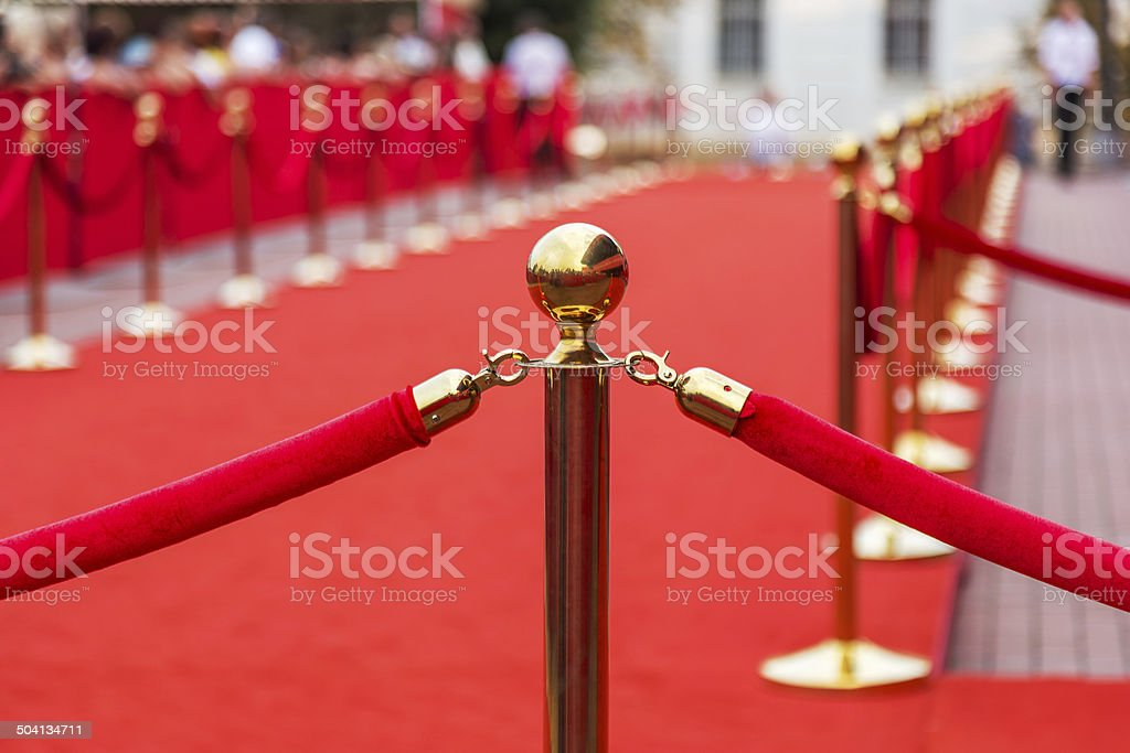 Path to Success, Red Carpet stock photo