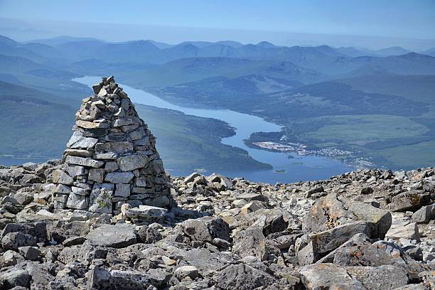 Path to the Ben Nevis summit stock photo