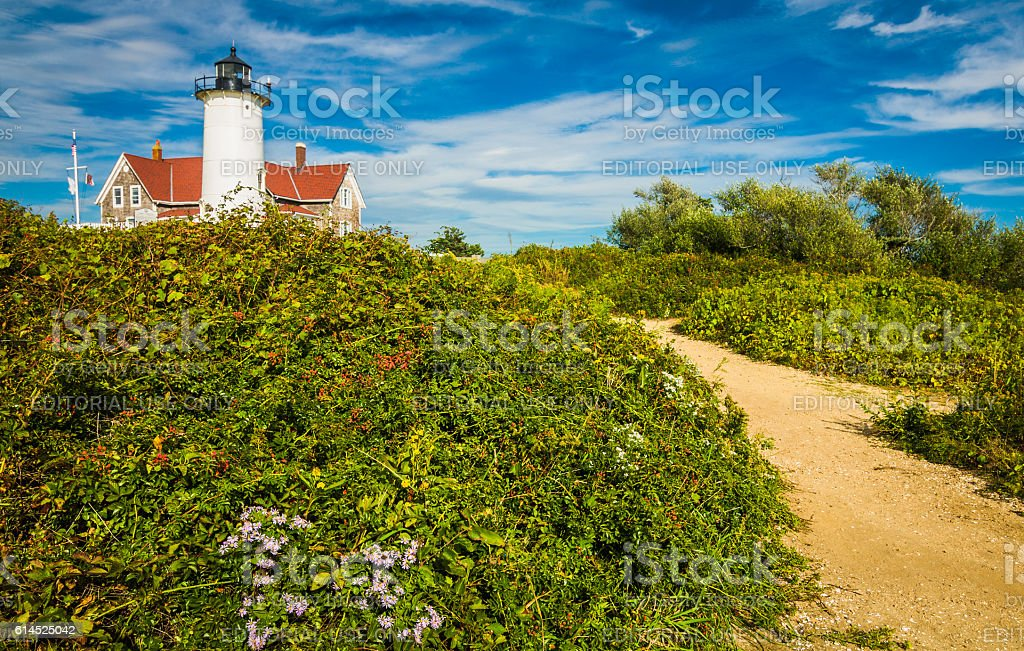 Path to the Lighthouse stock photo
