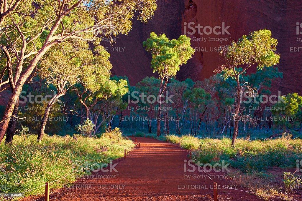 Path To The Mutitjulu Waterhole At Uluru stock photo