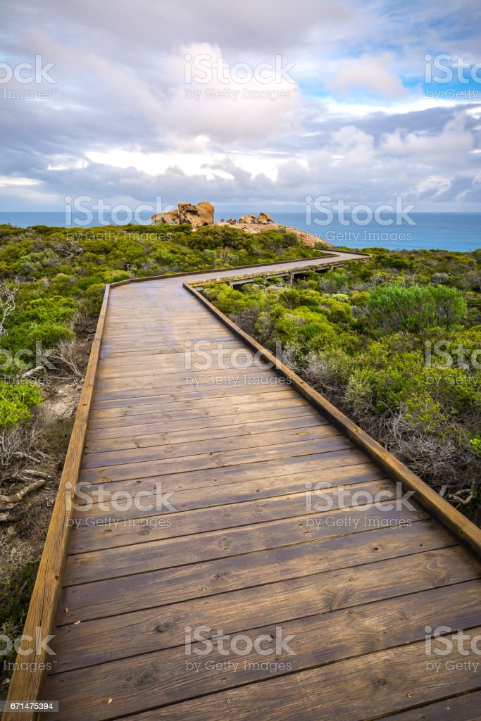 Path to the Remarkable Rocks stock photo
