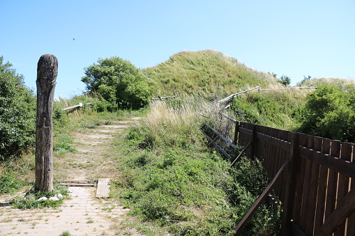 Path to the Royal chair of Cape Arkona, Island Rügen Germany