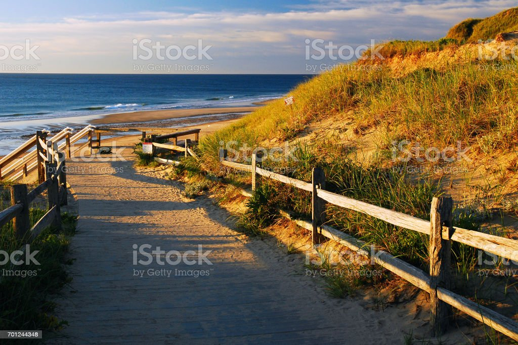 A path to the Sea stock photo