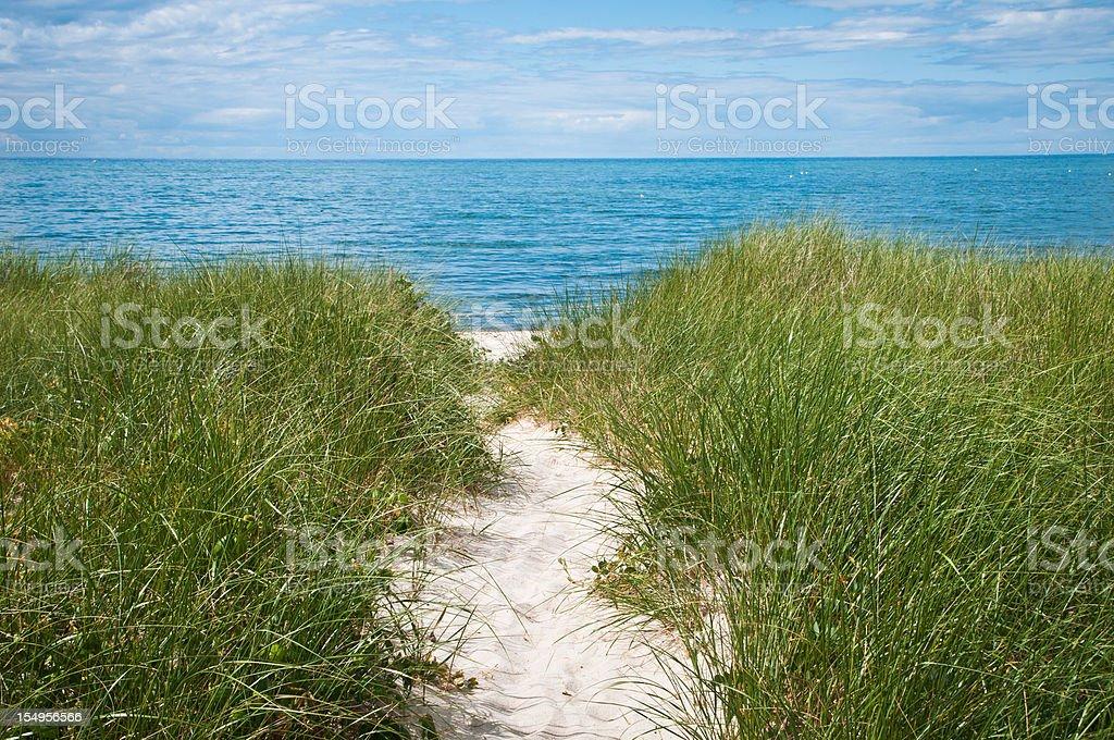 Path to the Secret Beach stock photo