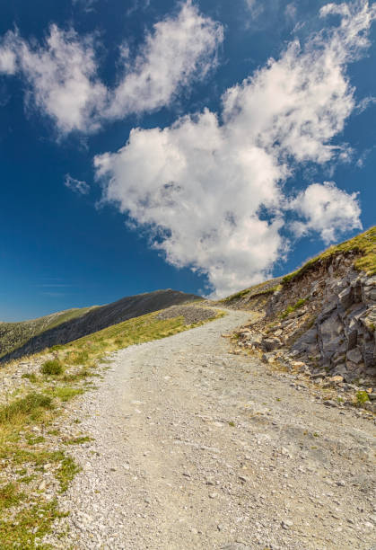 Path to the sky. Olympus mountain. Greece. stock photo