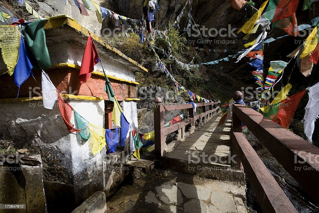 Path to The Tigers Nest in Bhutan royalty-free stock photo