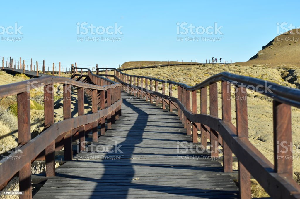 Path to the top of the mountain royalty-free stock photo