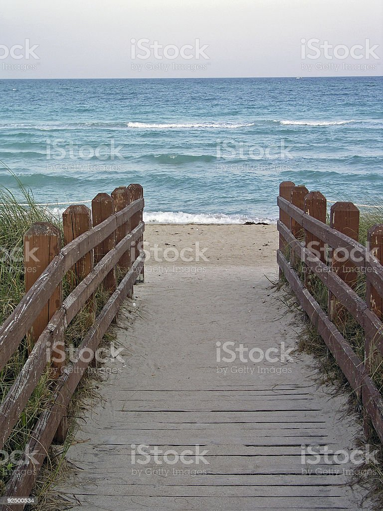 Path to the water royalty-free stock photo