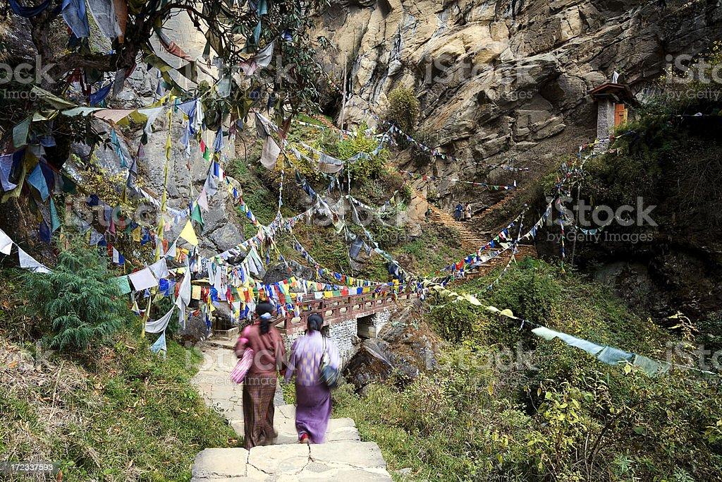 Path Towards The Tigers Nest Bhutan royalty-free stock photo